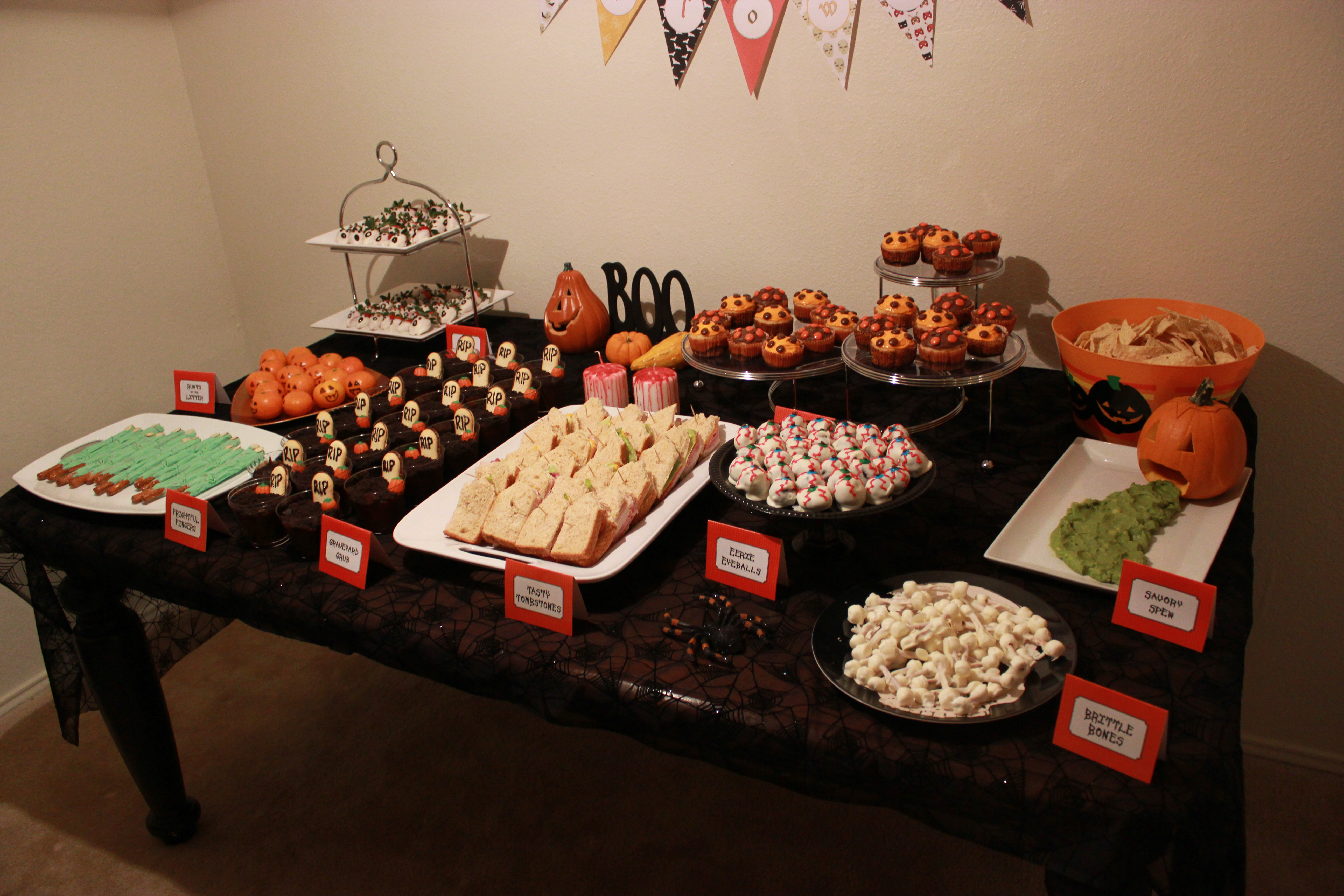 Halloween Party Food Table 2nd annual halloween party: pixgood.com/halloween-party-food-table.html